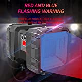 FEE-ZC Torcia elettrica a Doppia Testa Super Luminosa Domestica Multifunzionale, Xenon 5000 Luminoso a Lungo Raggio Ricaricabile Super Luminoso Leggero all'aperto