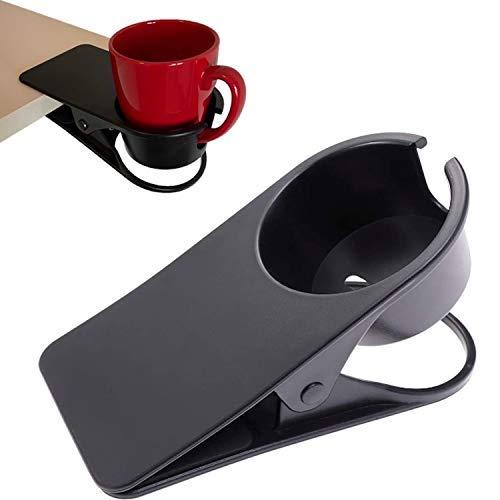 Abrazadera resistente en soporte de taza para mesa – Soporte para taza de escritorio abrazadera para tazas, botellas de agua, latas de soda tazas de café…
