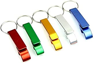 AIRSUNNY 5pcs Keychain Bottle Opener - bartender bottle opener - Best Aluminum Bottle/Can Opener - Compact, Versatile & Durable - Vibrant Colors - Pocket Small Bar Claw Beverage Keychain Ring