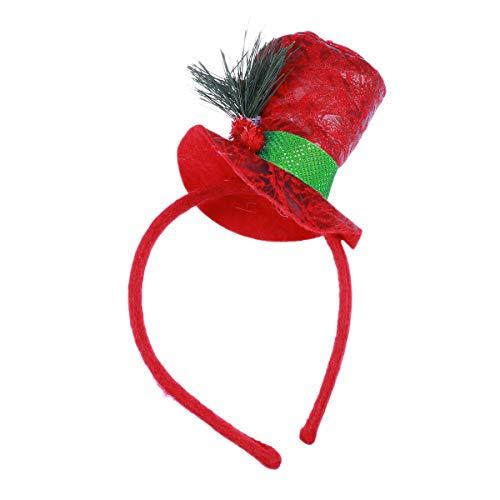 Frcolor Kerstmis Hoofdbanden sneeuwpop Hoed Hoofdband met Heilige Bes Kerstmis Party Kostuum Haaraccessoires