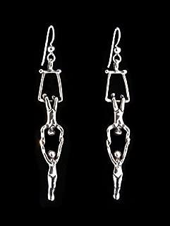 Silver Trapeze Earrings Trapeze Charms Trapeze Jewelry
