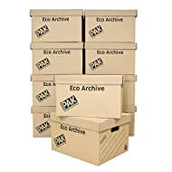 StorePAK Eco Archive /Storage Cardboard Boxes & Lids Pack of 10. Flat Packed & Easy to Assemble. Goo...