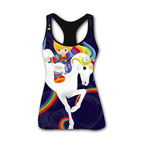 Women's Outdoor Sport Rainbow Brite and Starlite Memories Tank Top Vest T-Shirt Fast Drying Tee