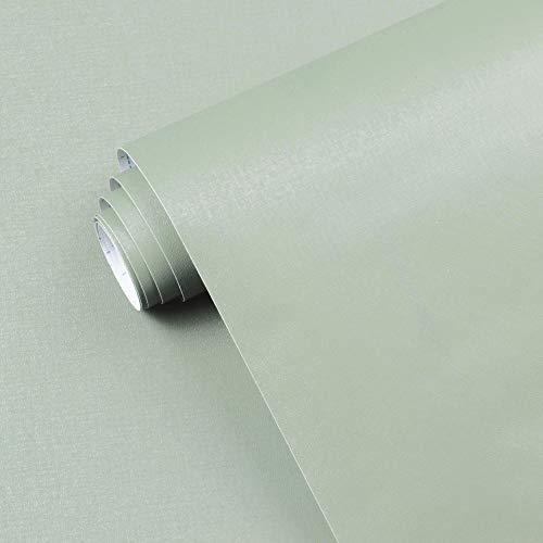 17.7' x118' Light Green Peel and Stick Wallpaper Green Contact Paper Waterproof...