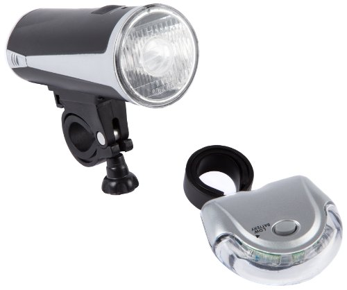 Ultrasport Set Lampada da Bicicletta LED, Nero