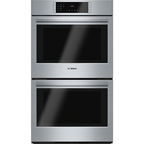 "Bosch HBL8651UC 800 30"" Stainless Steel Electric Double Wall Oven - Convection"
