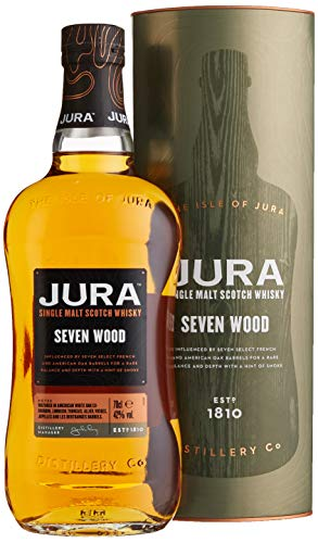 Jura SEVEN WOOD Single Malt Scotch Whisky mit Geschenkverpackung (1 x 0,7 l)