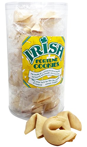 Irish St Patricks Day Party Favor Fortune Cookies Gift Nut Free