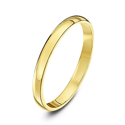 Theia Unisex 14ct Yellow Gold Super Heavy D Shape Polished 2mm Wedding Ring - Size L