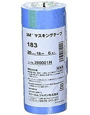 3M マスキングテープ 車両用 183 20mm幅X18M巻 6巻パック