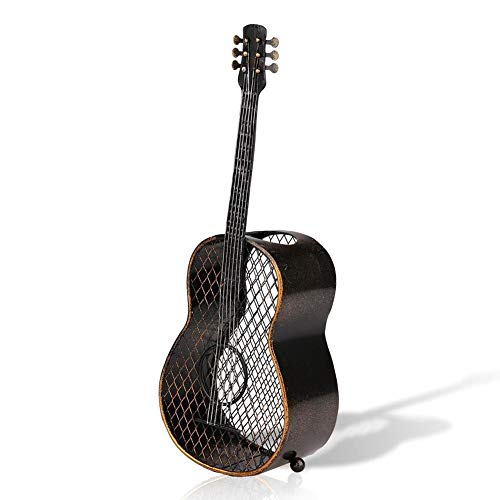 Bicaquu Contenedor de Corcho de Vino, artesanía de Hierro Concisa, Adorno práctico para el hogar, Guitarra Duradera con Forma para la Oficina en casa