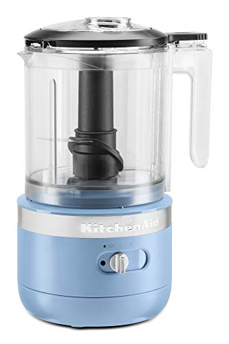 KitchenAid KFCB519VB Cordless Chopper, 5 cup, Blue Velvet