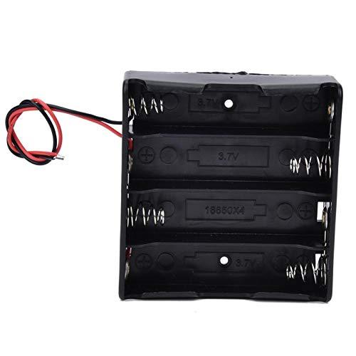 Shipenophy Batería caso 18650 almacenamiento de batería confiable 3.7 para batería (4 baterías)