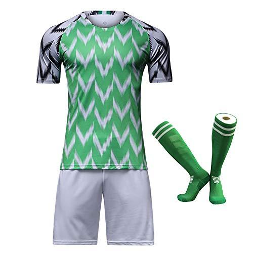 CWWAP Uniforme de fútbol de Nigeria 2018 para niño, Camiseta del Equipo Nacional, Traje de Entrenamiento de fútbol Infantil personalizado-24