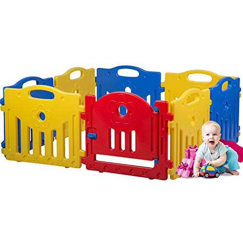 Adjustable Baby Playpen Kids 8 Panel Safety Play Center Yard Home Indoor Outdoor Pen