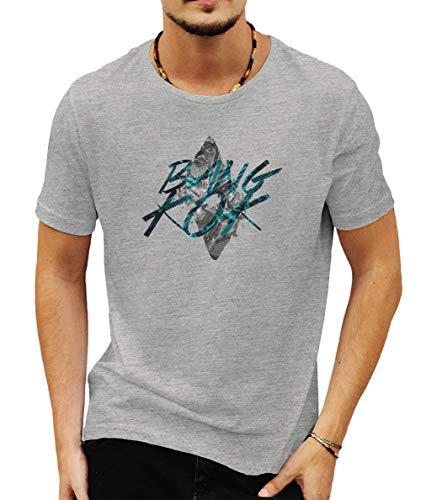Wild Soul Tees - Camiseta para hombre, diseño de la ciudad de Bangkok, capital de Tailandia Gris gris XXL