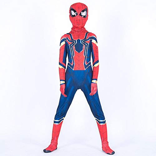 BCOGGHalloween Kostüm für Kinder Tier Spiderman Muskelanzug Superheld Cosplay Kostüme Grils Jungen Karneval Spider Man Kinder Kind XL SPIDER MAN