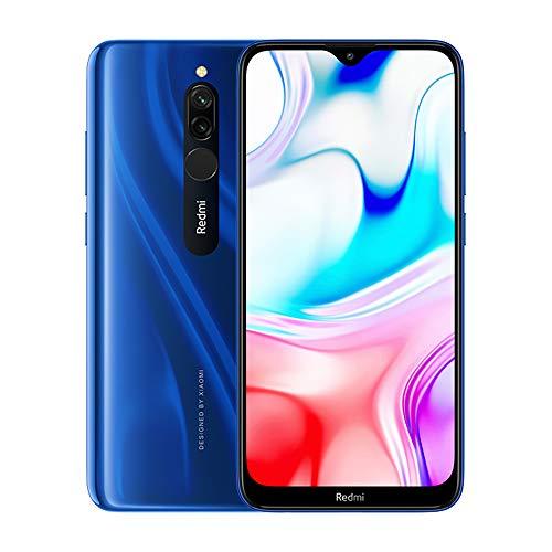 """Xiaomi Redmi 8 Smartphone,3GB 32GB Mobilephone, 6,22"""" Pantalla Snapdragon 439,Teléfono Móvil 12MP Cámara Dual,Versión Global (Azul)"""