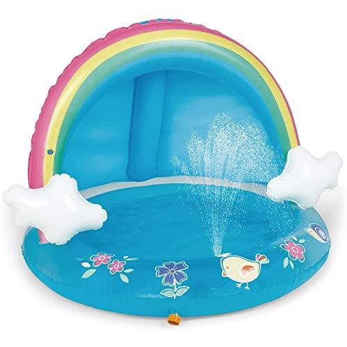 JGUSVYT Babyschwimmbad, überdachtes Regenbogen-Planschbecken, Sprinkleranlage für Kinder im Freien, Kinderbecken (Pool), 40 Zoll, geeignet für Kinder im Alter von 1 bis 3 Jahren