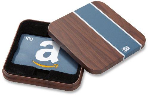 Amazon.com $100 Gift Card in a Brown & Blue Tin (Classic Blue Card Design)