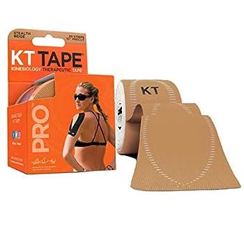 KT Tape Pro Precut 10  Strip 20 Each  Stealth Beige Stealth Beige - Precut 1 Count