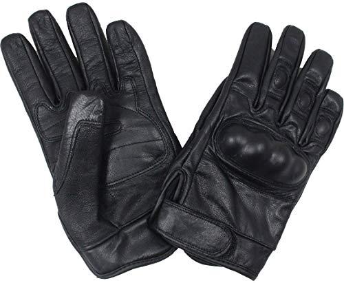 Mil-Tec Tactical Handschuhe mit Knöchelschutz (Schwarz/M)