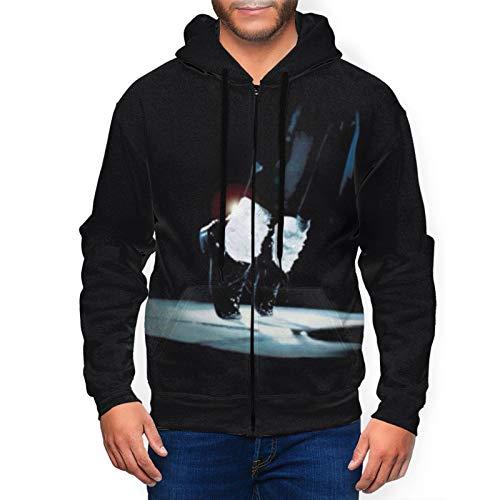 Cele-brity Mic-ha-el Ja-CKS-on Men's Hoodie 3D Printing Full-Zip Pullover Hoodies Sweatshirt X-Large Black