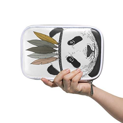 Montoj Pinseltasche mit Reißverschluss, Motiv: Indischer Panda, für Make-up-Pinsel, Stiftehalter