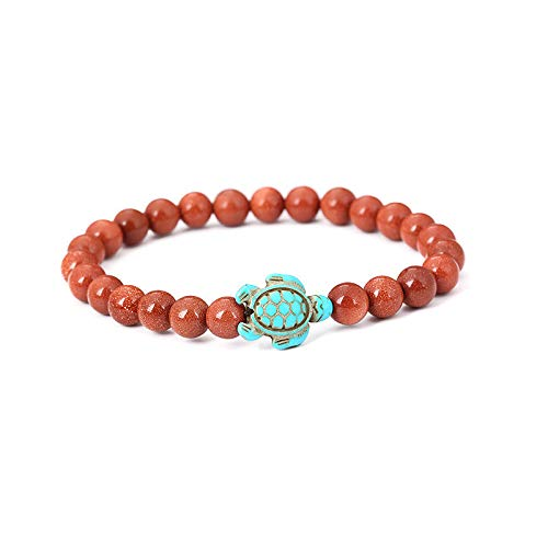 Bracelets for Womens Mens Turtle Turquoise Pendant Beaded Bracelet Beaded Bangle Personalised Romantic Valentine's Day Present Birthday Christmas Graduation Gifts(One Size,E)