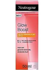 Neutrogena Glow Boost Revitalizing Fluid SPF30, revitaliserende moisturizer met UV-factor en Neoglucosamine® voor een gezond uitziende stralende huid 1 x 50 ml
