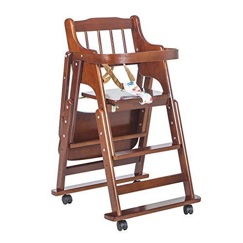 en Bois Pliable Chaise Haute bébé Ajustable Table de Salle à Manger portative multifonctionnelle avec Plateau, Booster Toddler Chaise de Salle à Manger pour bébé