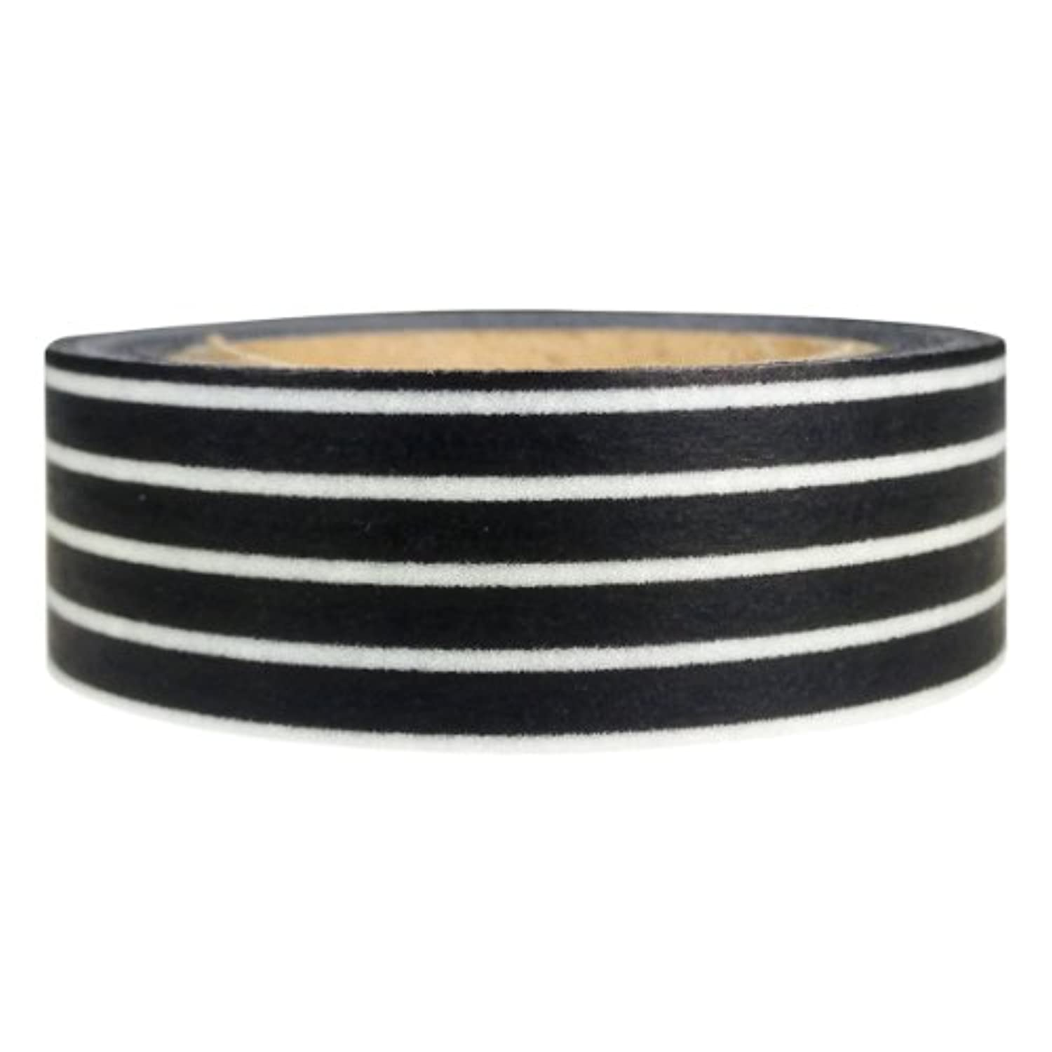 AllyDrew Striped Japanese Washi Masking Tape - Black Long Stripe