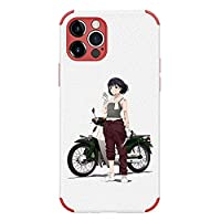 スーパーカブ IPhoneケース iphone12pro ケース シリカゲル携帯ケース スマホカバー 耐衝撃 iphone12 ケース IPhoneすべてのモデル アニメ漫画 (iphone12promax,A)