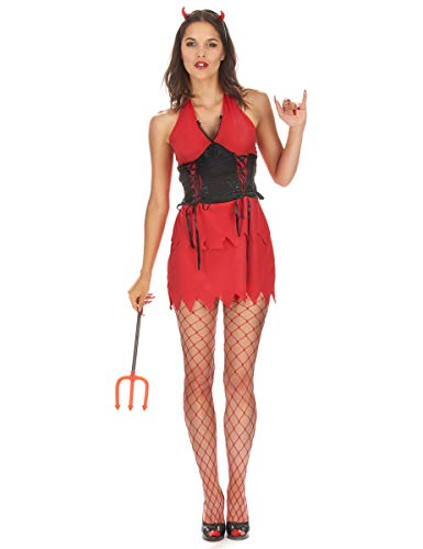 Vegaoo - Teufelinnen Kostüm für Damen - S