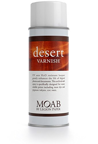 Moab Desert Varnish, Archival Digital Print Protection Spray, 13.5oz Can.