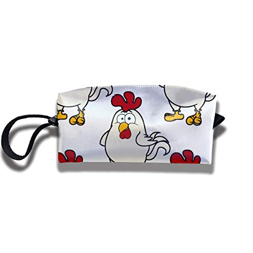 RZM YLY Cute Little Fat Cartoon Chicken Print Lightweight Cosmetic Pouch Bag Interesting Makeup Junkie Bags Travel Cosmetic Bag Pouch with Zipper