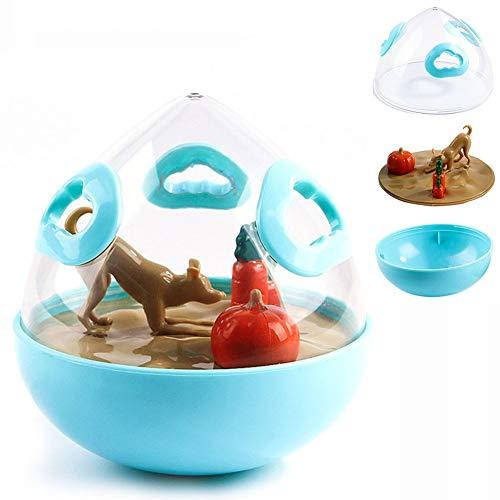 Hundespielzeug Ball Ungiftiger Naturkautschuk Spielzeug Ball Für Zahnreinigung Kauen Spielen IQ-Training Geeignet Für Alle Hunde,Blau