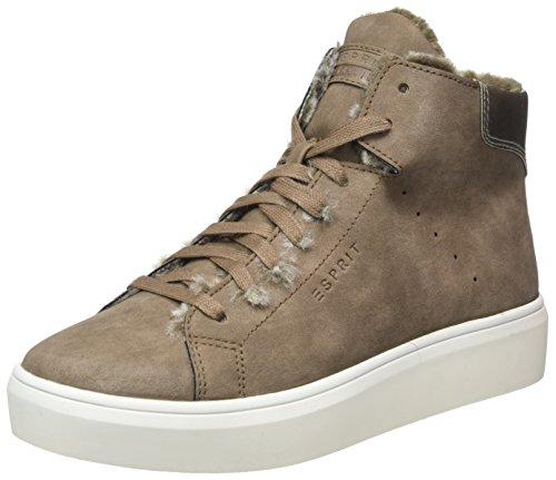 ESPRIT Damen Elda Bootie Hohe Sneaker, Braun (Taupe), 37 EU