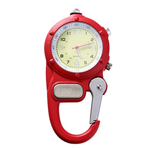 NICERIO Karabiner Taschenuhr - Quarzuhr Clip on Carabiner Fob Uhr für Krankenschwestern Und Ärzte mit Ultraleicht für Das Klettern im Freien