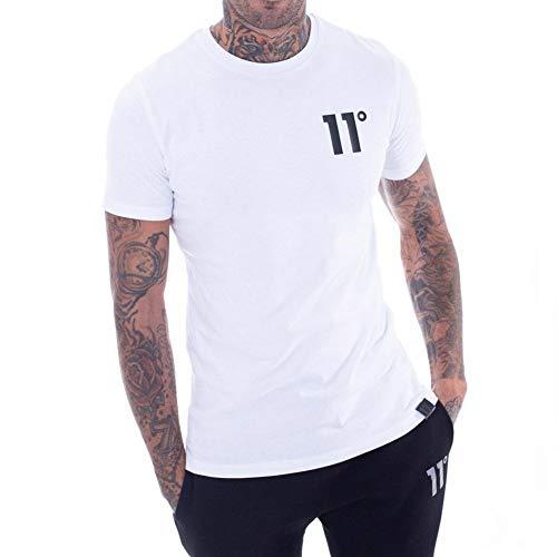 11 Degrees Core Camiseta Hombre Blanco