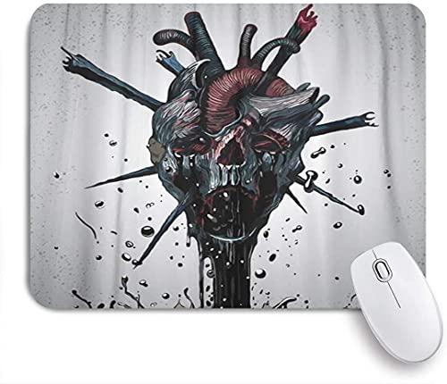 NOLYXICI Gaming Mouse Pads,Demon Black Horror Death Skull Satan Reaper Grim Fantasy,Non-Slip Rubber Base Mouse Mats for Laptop,Computer,Home,Office Mousepad 9.5'x7.9'