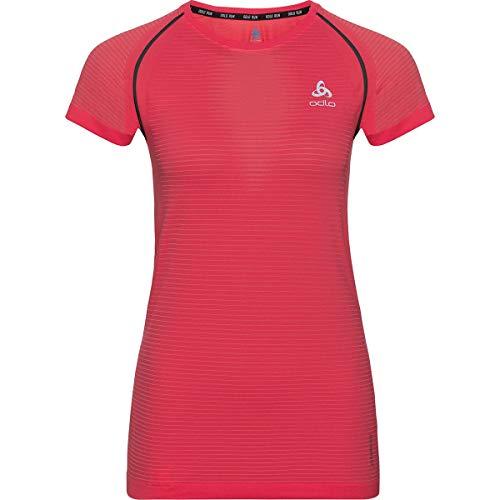 Odlo Ceramicool Pro BL Top Crew T-Shirt pour Femme Rouge Blanc XS Rouge