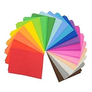 CI Fogli in plastica EVA (etilene vinil acetato), multicolore, formato A5, 22 x 15 x 8,5 cm, 20 colori assortiti, 40 fogli