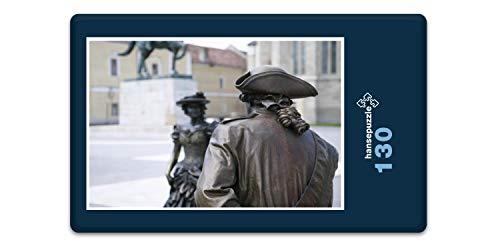 hansepuzzle 61003 Hintergründe - Bronzestatuen, 130 Teile in Hochwertiger Kartonbox, Puzzle-Teile in wiederverschliessbarem Beutel.
