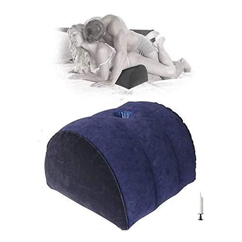 Portable Six Furniture for Côuplés Flocking Surface S&éx Wedge Pillows for Deéper Pénétration Adúlt Aúxilìary Cushions Multifunctional Inflatable Support Pillow Màssàge Toy ZHENGGEZHH