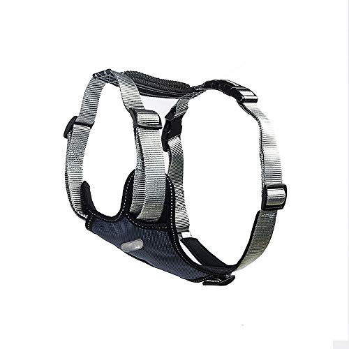 Price comparison product image Dog Harness leashes Outdoor Training harness for dogs Padded Car Safety Vehicle Harnesses Belt (Color : Gray,  Size : S)
