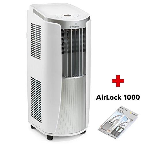 TROTEC Lokales mobiles Klimagerät Klimaanlage PAC 2610 E mit 2.6 kW / 9.000 Btu (EEK: A) 3-in-1-Klimaanlage: Kühlung, Ventilation, Entfeuchtung/inkl. Tür- und Fensterabdichting AirLock 1000