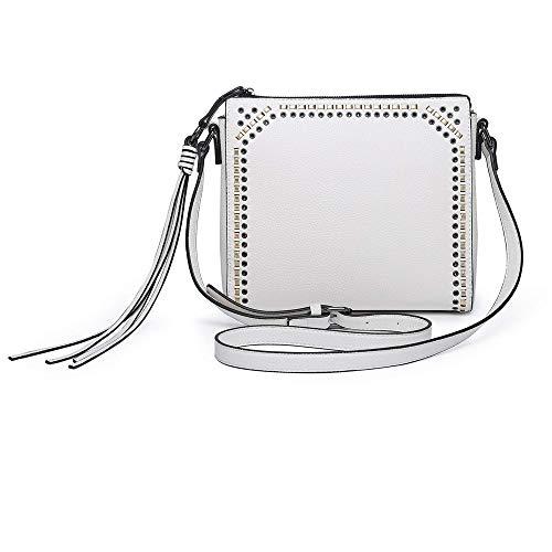 seOSTO Medium Crossbody Bags for Women, Shoulder Bag with Tassel Crossbody Purse Multi Pocket Bags(White)