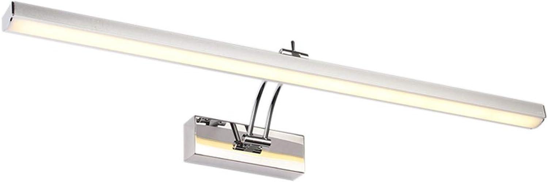 Moderner Wandlampe Edelstahl Chrom Schrankleuchte Aluminium Acryl Schatten Spiegellampe Up and Down Justierbar 180° LED 10W Warmweiss 3000K Toilette Schminktisch Badezimmer Schlafzimmer 60  15  5CM