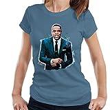 VINTRO Jay Z Suit - Camiseta para Mujer, diseño de Sidney Maurer Azul Azul (Indigo Blue) XXL